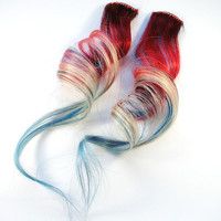 American Dream / Human Hair Extension / Red by MissVioletLace