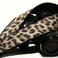 DSLR Camera Strap.Leopard Camera Strap.Cheetah Camera Strap. SLR, Canon, Nikon, Women Accessories