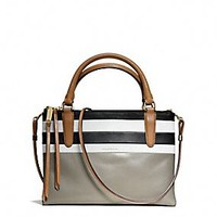 THE MINI BOROUGH BAG IN BAR STRIPE LEATHER