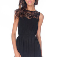 Kali Laced Dress in Black :: tobi