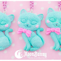 Ice cream kitten (mint) Necklace