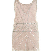 Silver Embellished Tank Dress - Dresses  - Apparel  - Miss Selfridge US