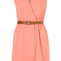 Belted Wrapover Dress by Rare** - Dresses - Clothing - Topshop