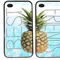 Pineapple BEST FRIENDS Case / Cute Summer iPhone 4 Case bff iPhone 5 Case iPhone 4S Case iPhone 5S Case One For Your BFF set of 2