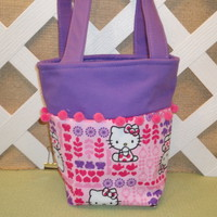 Hello Kitty Purse, Bucket Bag, in Pink and Purple for Little Girls | JRsPillowsandBags - Children