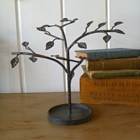Julia Jewelry Tree Metal Display with Leaves by selinabeadsnbits