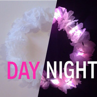 LED Flower Crown / (ANY 1 COLOR flower) Light Up Headband for Edm raves/ music festivals/ Edc /Coachella