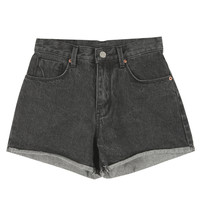 Roll-up Mid-rise Shorts