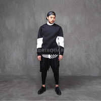 Neil. Black & White Neoprene Sweatshirt