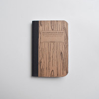Pocket Decomposition Notebook Woodgrain