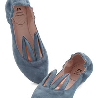 Minna Parikka Quirky Little Bunny Shoe Shoe Flat in Blue Grey