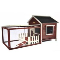 Advantek™ White Picket Fence Rabbit Hutch, Auburn - Tractor Supply Co.