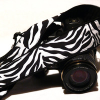 DSLR Camera Strap. Zebra Camera Strap. SLR, Canon, Nikon, Women Accessories