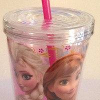 Disney Frozen ~ Elsa & Anna Tumbler with Straw ~ BPA Free