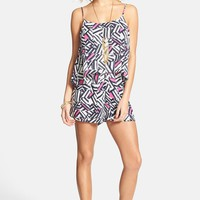Everly Print Layered Romper (Juniors)