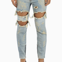 One Teaspoon Dirt Trashed Freebirds Pants $139