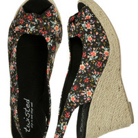 Slingback Jute Wedge | Shop Shoes at Wet Seal