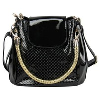 Embossed Purse Handbag with Braided Handle Crossbody Shoulder Bag
