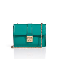 Salvatore Ferragamo - Leather Mini Shoulder Bag with Chain Handle