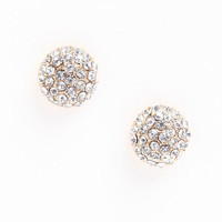 RHINESTONE BEAD EARRINGS