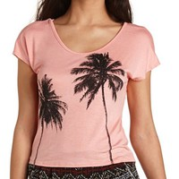 Rhinestone Palm Tree Graphic Tee