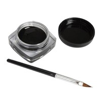 Sannysis 1PC Elegent Charming Eyeliner Gel Cream With Brush Makeup Black Waterproof Eye Liner