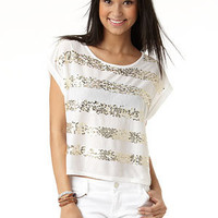 dELiAs - Sequin Stripe Tee