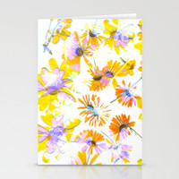 Flowering #3 Stationery Cards by Ornaart