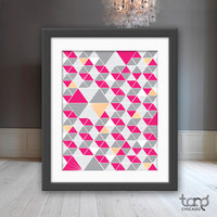 Printable Art Wall Frame Decor - Geometric Repeat Print