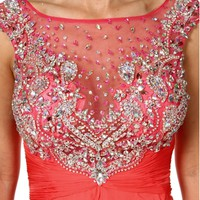 Adalynn- Coral Long Prom Dress