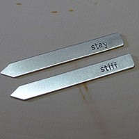 Sterling silver stay stiff collar stays handstamped and personalized for any occasion