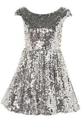 Petite Sequin Skater Dress - Going Out  - New In  - Topshop