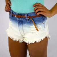 High-waisted Cut-off Shorts