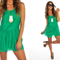 Furor Moda - Green Crochet Dress