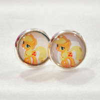 Apple Jack post back earring
