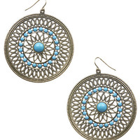 Filigree Bead Disc Earrings | Wet Seal