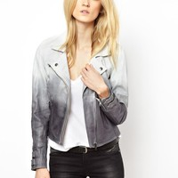 Selected | Selected Exclusive to ASOS Dip Dye Leather Jacket at ASOS