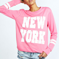 Ava New York Print Sweat