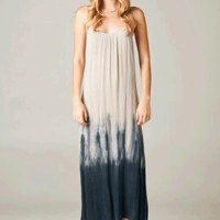 Slip into color and comfort with this Summer Time Breeze Dip Dye Maxi Dress. This lightweight, texture dress features dip dye design, adjustable spaghetti shoulder straps, sleeveless.