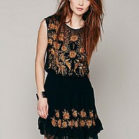 Garden Bloom Embroidered Dress