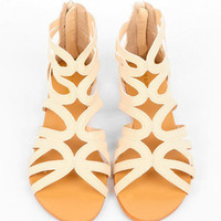 Maniac Strappy Sandals in Ivory :: tobi