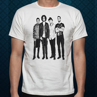 Best Design by ClothingShirt Fall Out Boy Rock Band For t shirt Mens and T shirt Ladies color White
