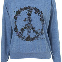 Flower Peace Raglan by Illustrated People** - Sale  - Sale & Offers  - Topshop