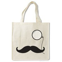 Mustache and Monocle Bag - Archie McPhee &amp; Co.