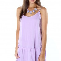 Lilac Ruffle Tank Dress