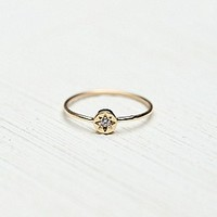 Erica Weiner Womens Spark Ring - Yellow Gold with Black,