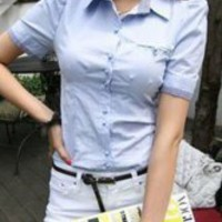 Trendy Sky Blue Cotton Polyester Puff Sleeves Ladies Blouse -  Milanoo.com