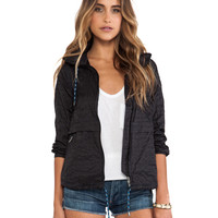 Free People Parachute Festival Jacket in Black