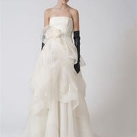 Gorgeous Vintage organza ball gown neckline strapless court sweep wedding dresses MLVB0065 - Wholesale cheap discount price 2012 style online for sale.