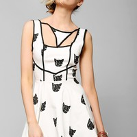 Reverse Cat Phase Fit + Flare Dress - Urban Outfitters